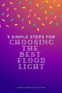 Choose LED floodlight